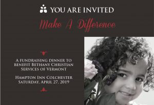 Make A Difference - Bethany Christian Services Fundraiser @ Hampton Inn Colchester | Colchester | Vermont | United States