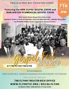 Gospel Fest 2020 @ Flynn Center | Burlington | Vermont | United States
