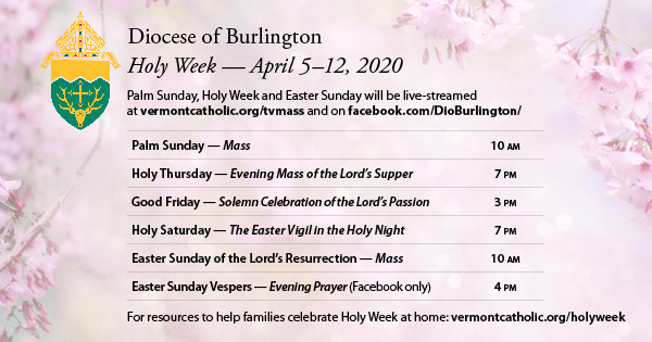 Catholic Holy Week digital celebrations