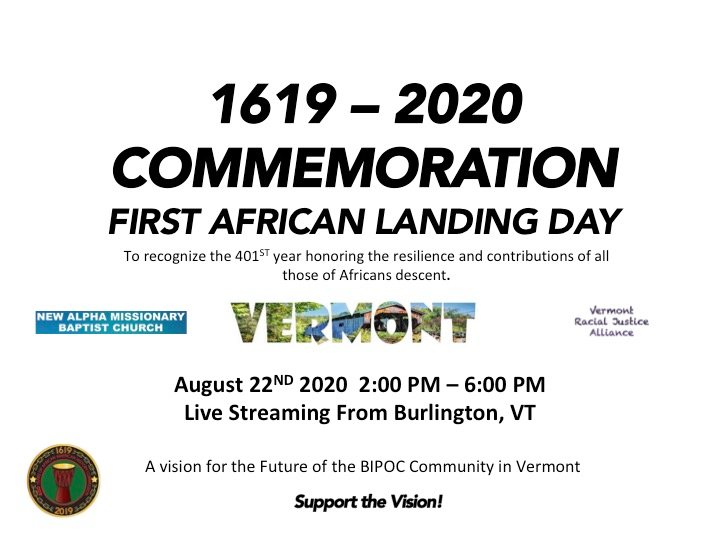 First African Landing Vermont Commemoration